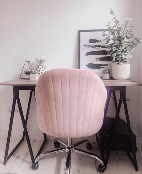 Homesense Pink Velvet Seat